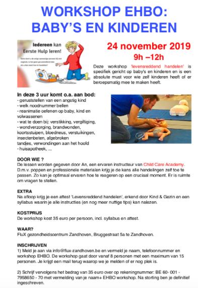 EHBO workshop baby's en kinderen