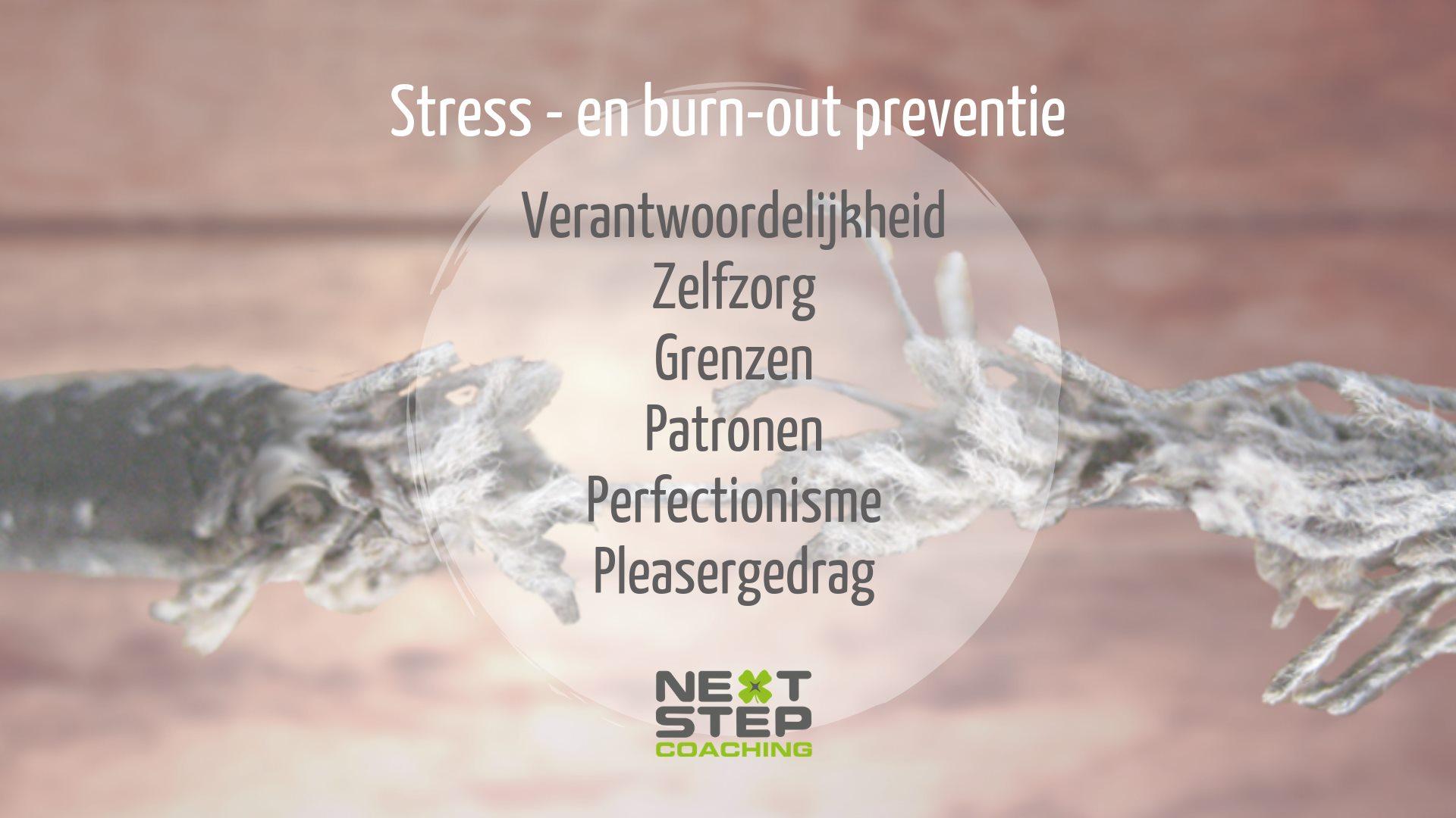 PREVENTIE stress en burn-out